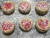 Vegan Lime Shortbread Cookies With Raspberry Icing